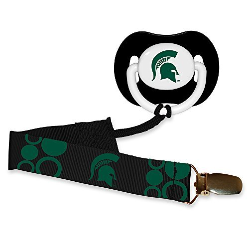 Baby Fanatic Pacifier with Clip - Michigan State University by Baby (State University Clip)