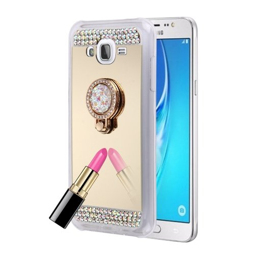 Image Unavailable. Image not available for. Color  HITSAN INCORPORATION for  Galaxy J3 (2016)   J310 Diamond Encrusted Electroplating Mirror Protective  Cover 48ca6b6caef