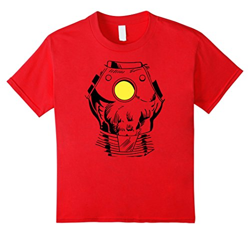 Kids Marvel Iron Man Suit Halloween Costume Retro Comic T-Shirt 6 (Kids Ironman Suit)