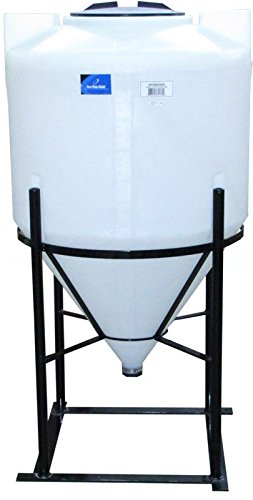 85 Gallon Full Drain Cone Bottom Inductor Tank with Steel Stand by Ace Roto