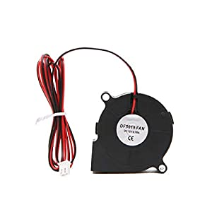 Cooling Blower Fan,3PCS 12V 0.18A 5015 Cooling Blower Exhaust Turbo Fan for 3D Printer from UniGift