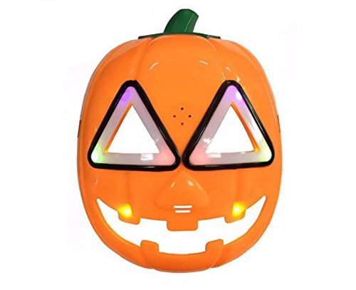 URToys 1Pcs Funny Design Mask Pumpkin Flash LED Lighting Masks With Sound Children's Day Gift Cosplay Props Halloween Party Supplies ()