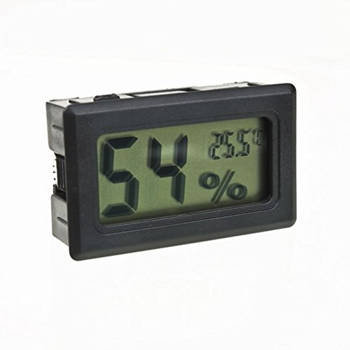 New Mini Digital LCD Indoor Temperature Humidity Meter Thermometer (Reptile Heat Wave Heater)