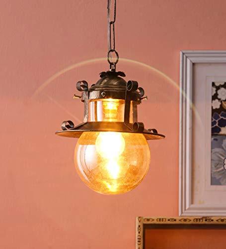 GreyWings 361 H/L 100 watt Hanging Light Lantern, Bronze, Brass Antique, Lantern Shape