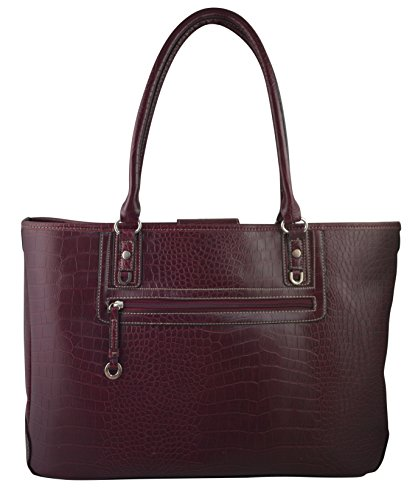 Supreme Elegant Work Tote, Business Women's Laptop Tote Bag With Padded Compartment For Computer Up To 14.5