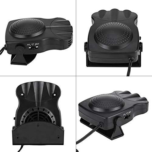 Keenso 12V Car Vehicle Electric Auto Hot Warm Heater Fan Fast Heating Dryer Window Windshield Fan Defroster Demister Portable Car Heater Black /& Red
