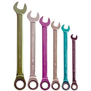 Pittsburgh 6 Piece SAE Ratcheting Color Combo Wrench Set