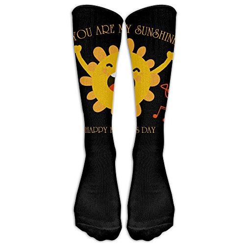 ZHONGJIAN Unisex Knee High Long Socks You Are My Sunshine Father's Day School Uniform High Long Stockings from ZHONGJIAN