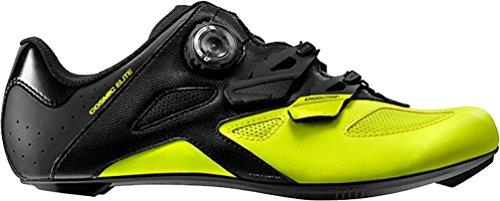 Mavic Cosmic Elite Cycling Shoe - Men's Black/Black/Safety Yellow, US 10.5/UK 10.0