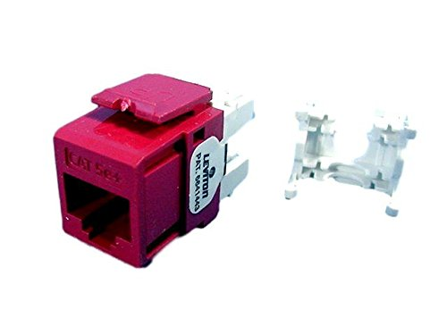 - Leviton Red Quickport Cat 5e+ Jack Cat5e RJ45 5G110-RR5
