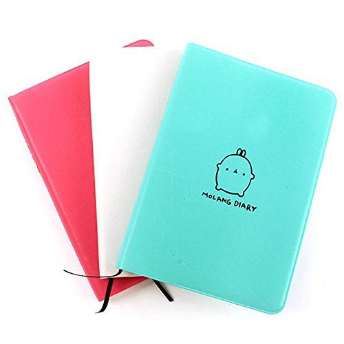 Schoolsupplies Cute Kawaii Notebook Cartoon Molang Rabbit Journal Diary Planner Notepad for Kids Gift Korean Stationery