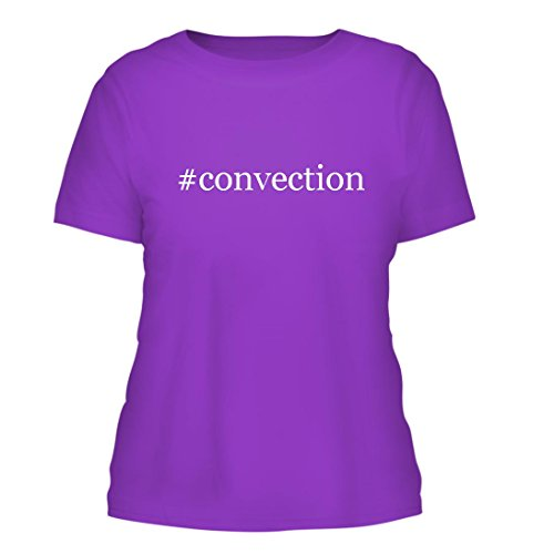 Convection   A Nice Hashtag Misses Cut Womens Short Sleeve T Shirt  Purple  Large