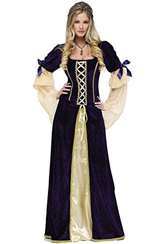 Renaissance Princess Adult Costumes (Fun World Women's Maiden Faire Costume, Multi, Large)
