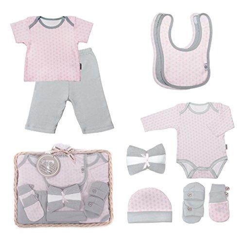 Tadpoles Starburst Gift Set, Pink/Grey, 0-6 Months, 12 Piece