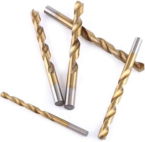 10.4mm Drilling Dia Titanium Plated 2 Flutes Straight Shank Twist Drill Bit