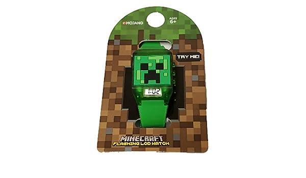 Minecraft - Reloj de Pulsera para niños con luz LED Intermitente, Color Verde: Amazon.es: Relojes