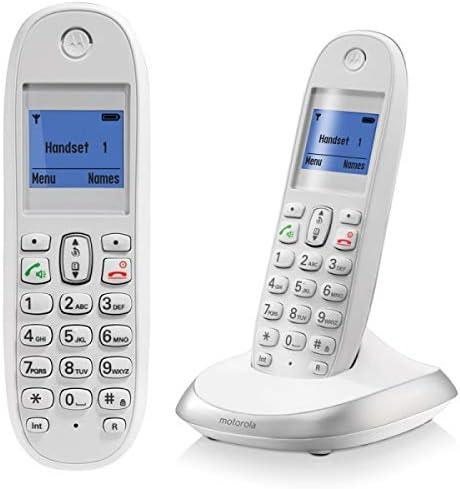 Motorola C2001 - Teléfono inalámbrico (Agenda para 100 contactos, Manos Libres) Color Blanco: Amazon.es: Electrónica