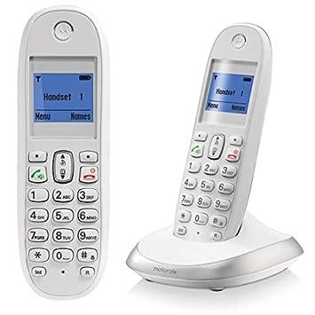 Motorola C2001 - Teléfono inalámbrico (Agenda para 100 ...