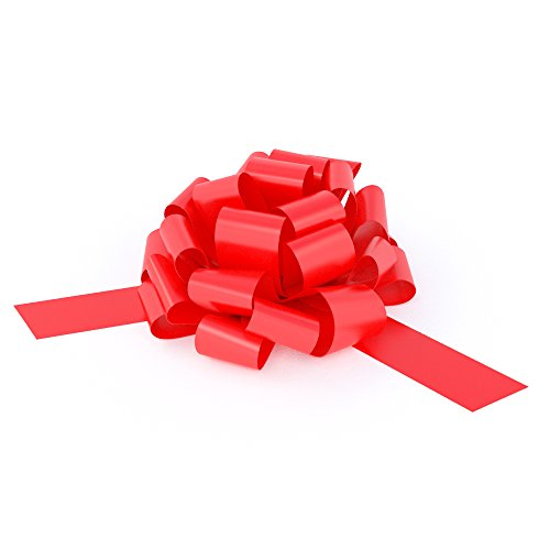 Big Red Bow for Car - 28 Giant Fluffy Loops for Your Large Gift Decoration, Perfect Shape Car Bow