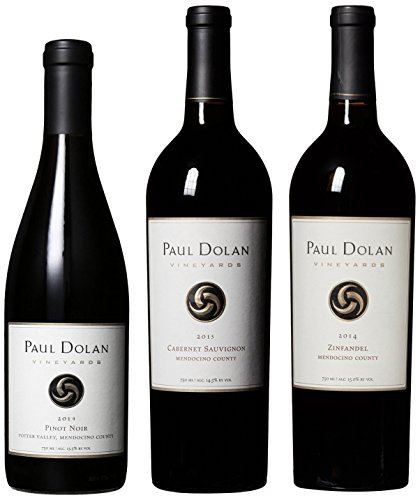 Paul Dolan Best of Mendocino Organically Grown Red Wine Mixed Pack, 3 x 750 mL