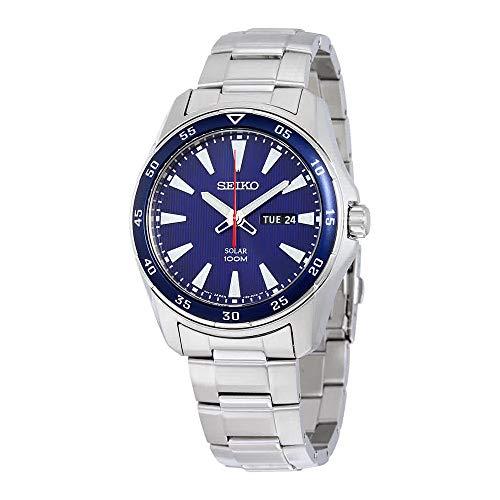 Seiko SNE391 Men's Core Silver Bracelet Band Blue Dial Watch (Seiko Core Mens Watches)