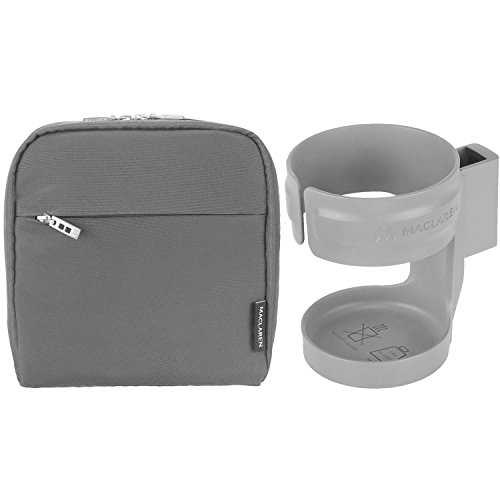 Maclaren Pannier Bag With Cupholder - Charcoal/Silver