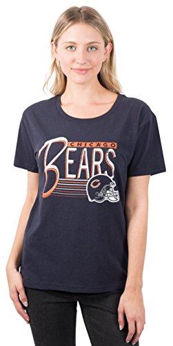 - ICER Brands Adult Women T Scoop Neck Short Sleeve Tee Shirt, Team Color, Navy, Medium