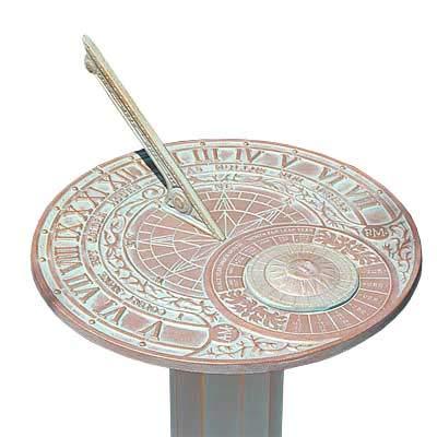 BestNest Whitehall Perpetual Calendar Sundial & Roman Pedestal Kit ()