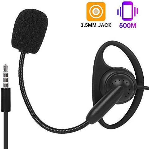 Hopcd Motorcycle Intercom Headset V4 Motorcycle Intercom Headset 3.5mm Ear Hook Two-way Radio Earphone Bluetooth Wired Intercom Headset for V6