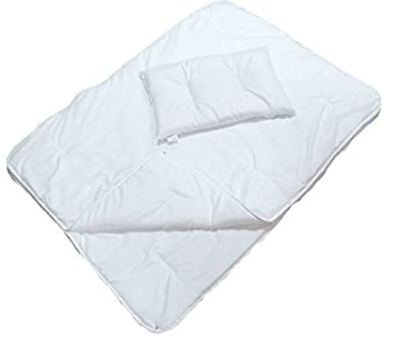 100/% Baumwolle gesteppt Bettbezug /& Kissen 2-tlg Baby Füllung Set Wiege,