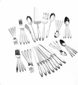 International Silver Prelude Dinner Size 46 Piece Flatware Set Service For 8 Wallace Flatware Kitchen Dining