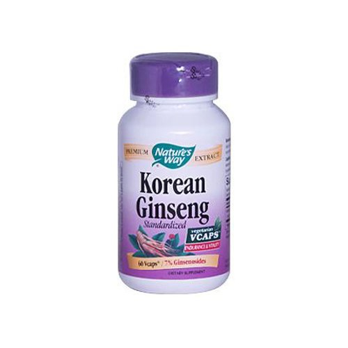Standardized Korean Ginseng Extract by Nature's Way - 60 Capsules, 5 Pack