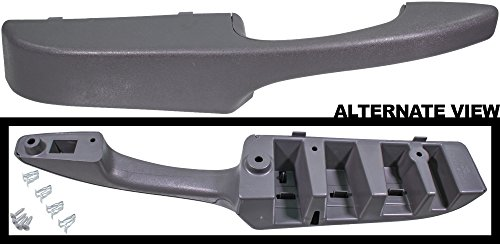 APDTY 91482 Interior Door Replacement Pull Handle Fits Front Left Driver-Side 2003-2013 Chevrolet Express or GMC Savana 1500 2500 3500 Van (Gray Color; Replaces 10388390, 10388387, 15817114)