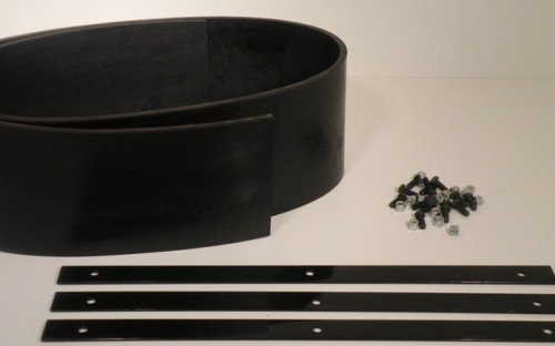 Universal Heavy Duty Rubber Snow Deflector Kit up to 6-8ft. Straight Plow by PlowRubber.com