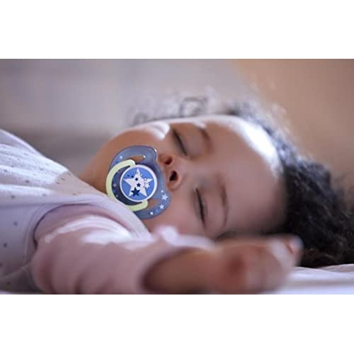 Philips Avent Night-Time Soothers 6-18m SCF176//22 1 PACK, 2 SOOTHERS