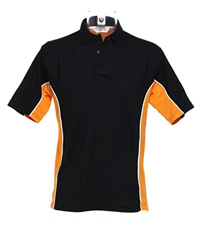 Kustom Kit – Gamegear Track Polo Shirt KK475 schwarz/orange Medium