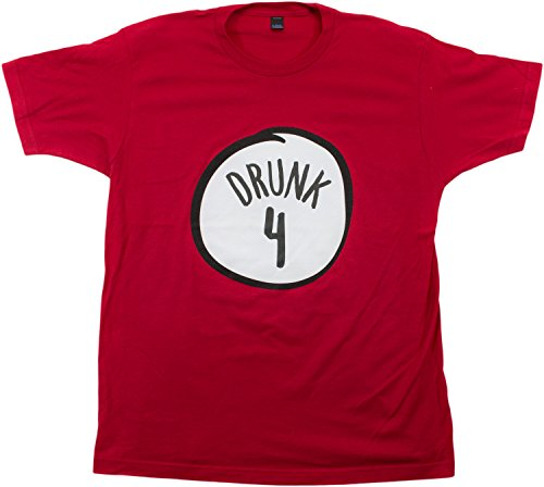 [Drunk 4 | Funny Drinking Team, Group Halloween Costume Unisex T-shirt-Adult,2XL] (Four Group Costumes)