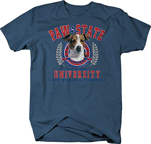 (Paw State University Jack Russell Terriers Dog Puppy Family Tshirt - XL Denim)
