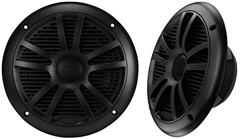 BOSS Audio MR6B 180 Watt (Per Pair), 6.5 Inch, Full Range, 2 Way Weatherproof Marine Speakers (Sold in Pairs)