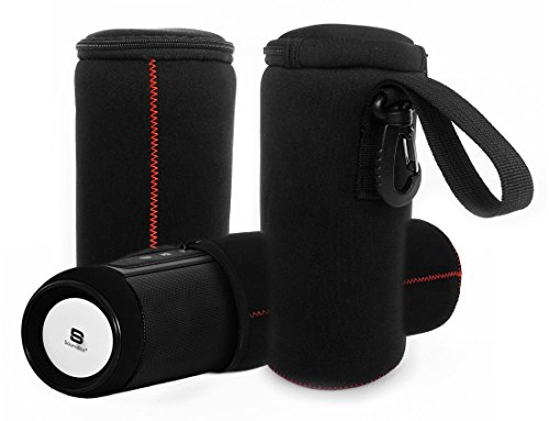 FitSand (TM) Travel Zipper Carrying Soft Portable Bag Case Pouch Box Cover for SoundBot SB525 Bluetooth Wireless Speaker