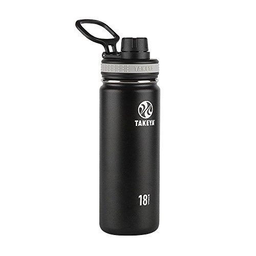 Takeya ThermoFlask Insulated Stainless Steel Water Bottle, 18 oz, Asphalt...