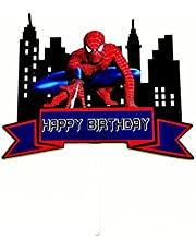 Spiderman in the city happy birthday, acrylic cake topper decoration. 1 pcs