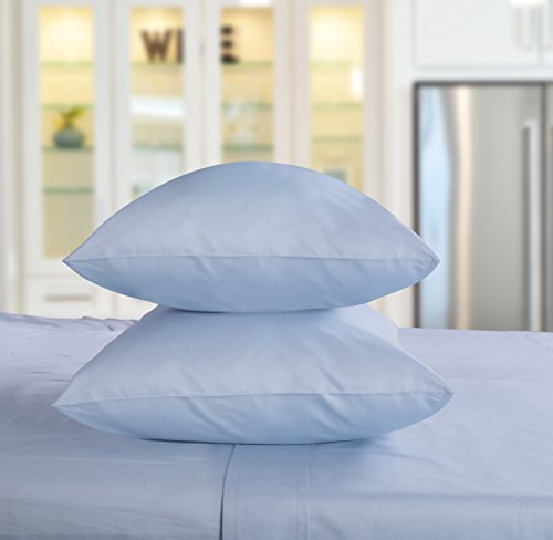 Threadmill Home Linen 800 Thread Count 100% ELS Cotton Sheets Set of 2 King Pillowcases, Luxury Bedding, Smooth Sateen, Blue by by Threadmill Home Linen (Image #3)