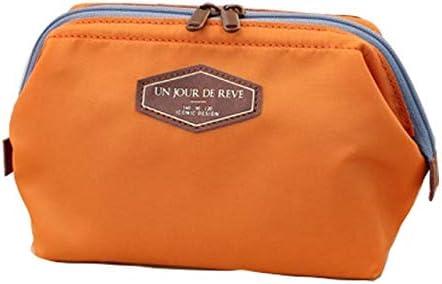 Caja de Monedero portátil Multifuncional Maquillaje de Viaje Bolsa de cosméticos Estuche de tocador Bolsa de Almacenamiento Accesorios de Viaje Etiqueta de Viaje 16 * 9 * 12 cm Naranja