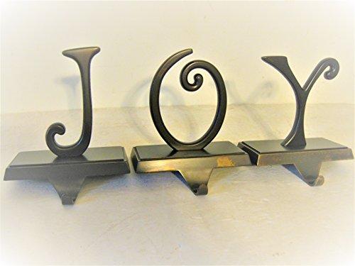 Christmas Stocking Holder Pottery Barn Bronze J O Y Stocking Holder Pottery Barn Set of Three Stocking Holder J O Y