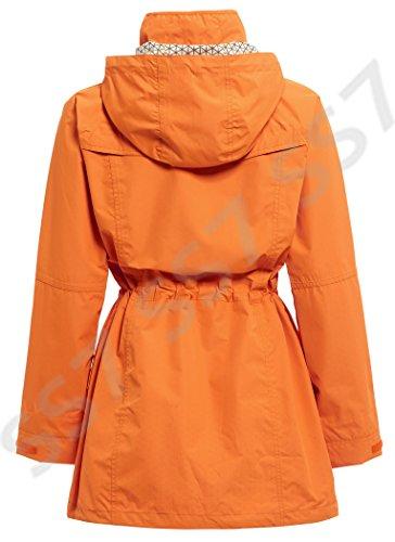 SS7 Imperméable Coupe Vent pour Femmes, Jaune, Vert, Tailles 38 à 52 - Orange, 46