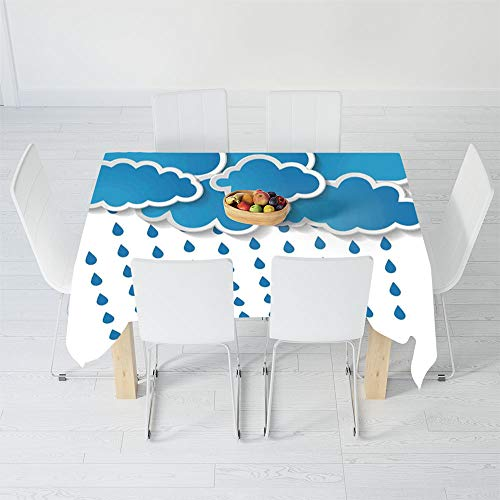 TecBillion No Fading Tablecloth,Farmhouse Decor,for Table Outdoor Picnic Holiday Dinner,48 X 24 Inch,Trippy Convective Cloud Group Figures Like Savannah