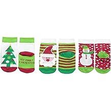 Jefferies Socks Unisex-Baby My First Christmas 3 Pair Pack