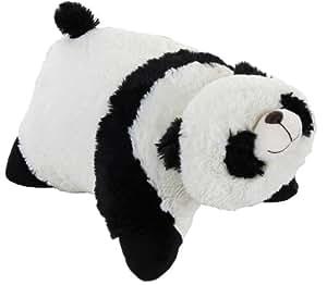 Pillow Pets 2144 - Cojín de peluche con diseño de panda (46 cm aproximadamente), color blanco y negro