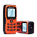 393ft Laser Measure - LOMVUM Laser Distance Measure with Non Mute Function Large LCD Backlight Display Measure Distance,Area and Volume,Pythagorean Mode Battery Included